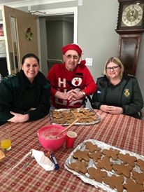 Derick with paramedics that visited our free turkey sandwiches day at Christmas to say thank for all their help over the past y